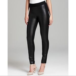 NYDJ Black Faux Leather Mixed Media Stretch Pants